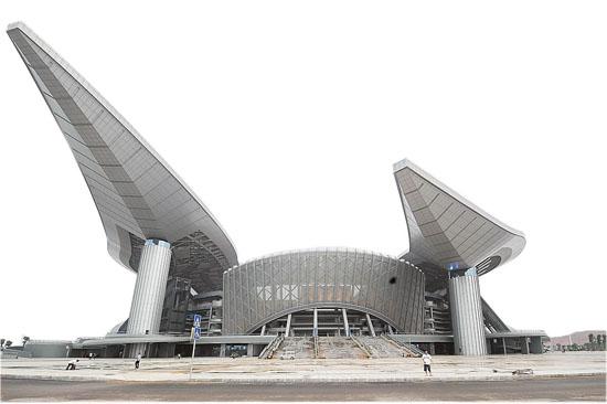 主体育场的主体结构曲梁斜柱
