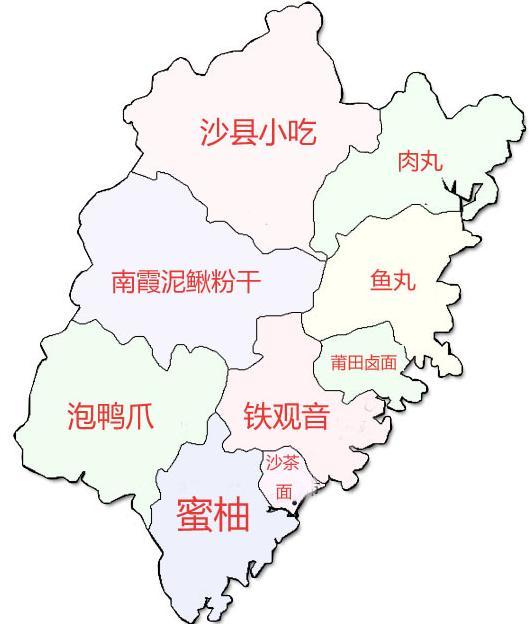 中国地图美食高清图_手绘中国吃货地图