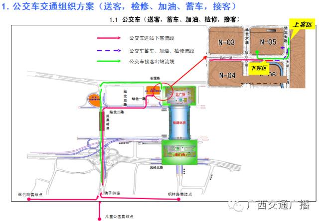 由朝阳广场至南宁火车东站