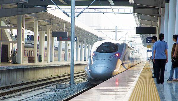 南宁至北京西,石家庄,武汉等跨省高速动车组列车于9