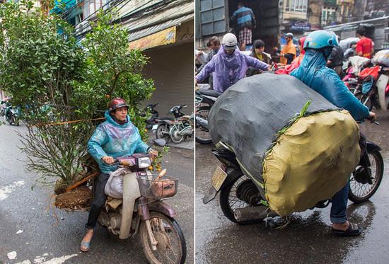镜头下的越南街头摩托车超载神技