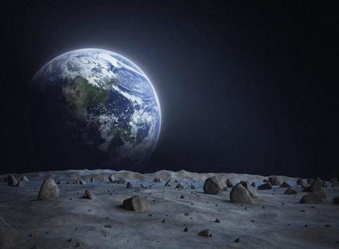 月球结构示意图