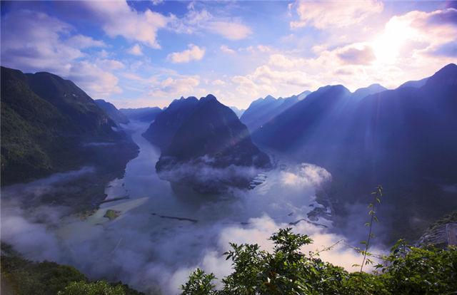 河池东兰江平风景