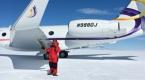 中国商用飞机首次降落南极